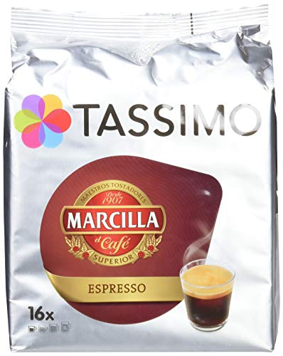 Tassimo Marcilla Café Espresso, 16 Cápsulas