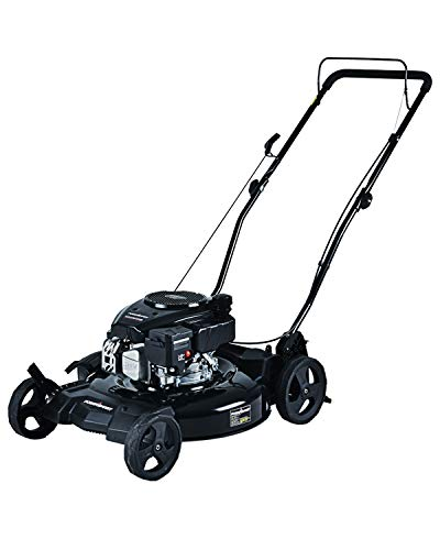 PowerSmart Lawn Mower, 21-inch & 170CC, Gas Powered Push Lawn Mower with 4-Stroke Engine, 2-in-1 Gas Mower in Color Red/Black, 5 Adjustable Heights (1.18''-3.05''), DB8621CR