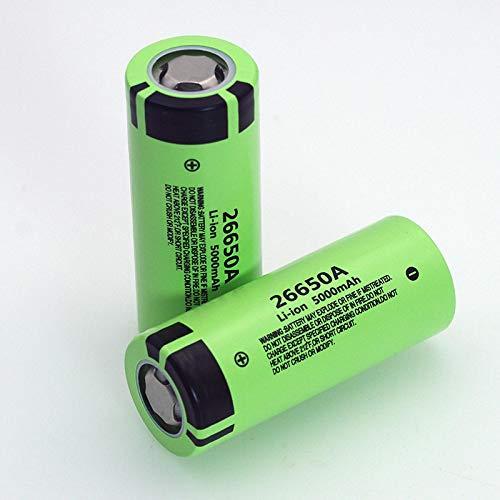 MeGgyc 26650A Batería de Iones de Litio 3,7 V 5000mA Baterías Recargables Descargador 20A Batería de alimentación para Linterna E-Tools