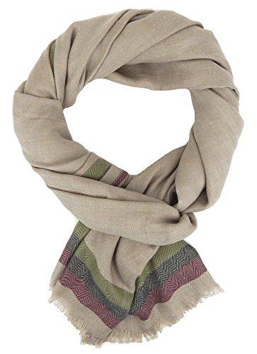 Ella Jonte Écharpes foulard d'homme hiver élégant et tendance de la dernière collection by Classic-Line beige