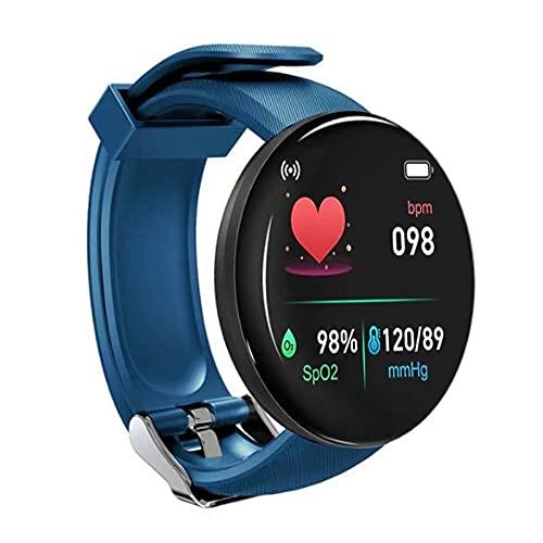 Daodan Smartwatch, Reloj Inteligente 1.44 Pulgadas Táctil Completa IP65, Reloj de Fitness para Mujer Hombre Niño,Pulsera Actividad para iOS Android 8 Modos Deportivos & Impermeable IP65 (Azul)