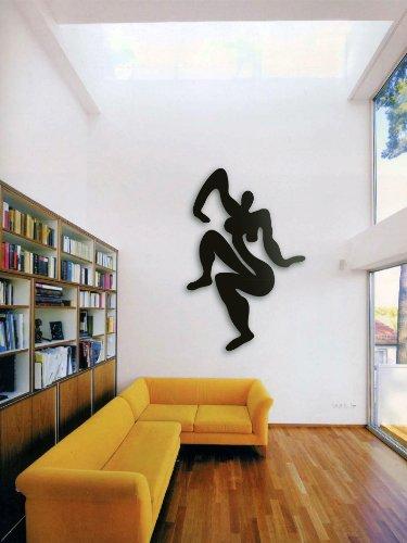 "Sibylle Rettenmaier - Wand Skulptur ""NARZISSE"" Moderne Kunst - Akt – Skulptur aus Metall 130 cm hoch"