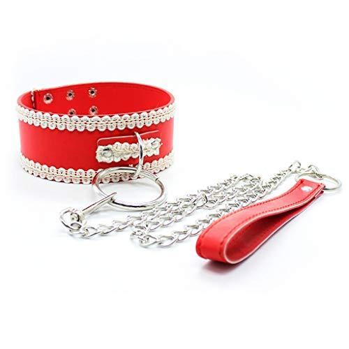 ODDO Collare di trazione a Catena in Metallo Divertente for Cravatte for Prodotti Sanitari Donna Yoga Mat,Toys (Color : Red)
