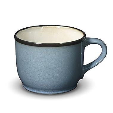 Gourmet Basics Belmont Blue Jumbo Soup Mug, 28-Ounce