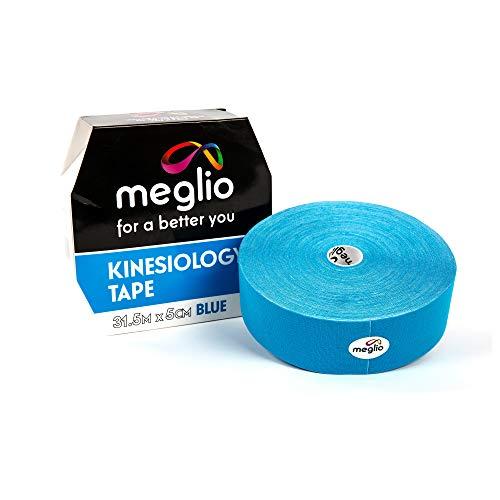 Meglio Kinesiologie Tape ungeschnitten 31.5m Rolle, Latexfrei, Hypoallergenes Sport-Tape, Atmungsaktiv, Wasserfeste, klebende Streifen zur Muskelunterstützung für Sport und Abhilfe bei Verletzungen