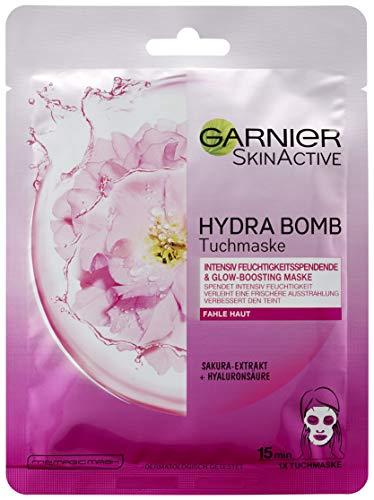 Garnier SkinActive Hydra Bomb Tuchmaske Sakura-Extrakt, 5er Pack (5 x 32 g)
