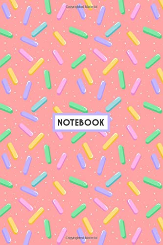 """Notebook: Simple Colorful Sprinkles Pattern, Wide Ruled 110 pages (6.14"""" x 9.21"""")"""