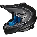 ILM Adult Motocross Dirt Bike Helmet with Super Soft Liner Camera Mount for Men Women ATV Motorcycle Dual Sport DOT(Matte Black, L)