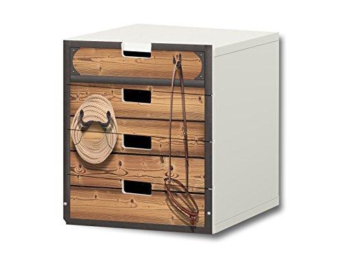 Stikkipix Pferdewelt Möbelsticker/Aufkleber - S4K23 - passend für die Kinderzimmer Kommode mit 4 Fächern/Schubladen STUVA von IKEA - Bestehend aus 4 passgenauen Möbelfolien (Möbel Nicht inklusive)