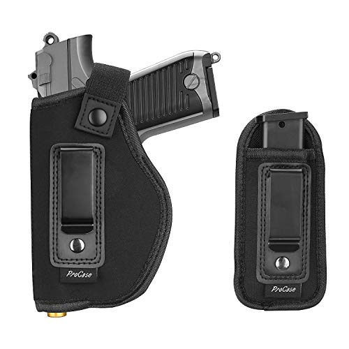 Procase Gun Holster und Mag Holder, verdecktes Trageholster Pistolenholster, für Shield Glock Ruger Springfield und ähnliche Handfeuerwaffen -Links
