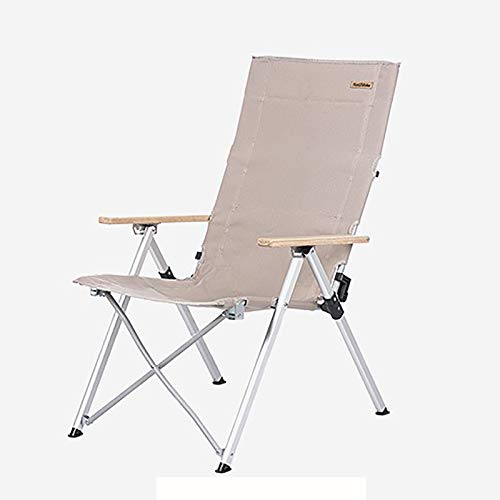 WLDQ Outdoor aluminum alloy folding recliner three-speed adjustable leisure armrest folding chair fishing chair