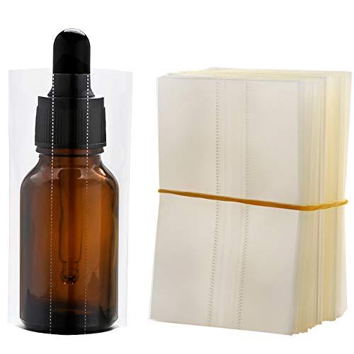 200Pcs PVC Heat Shrink Wrap Film for Glass Bottles 30ml, Clear Heat Shrink Wrap/Shrink Wrap Bottle