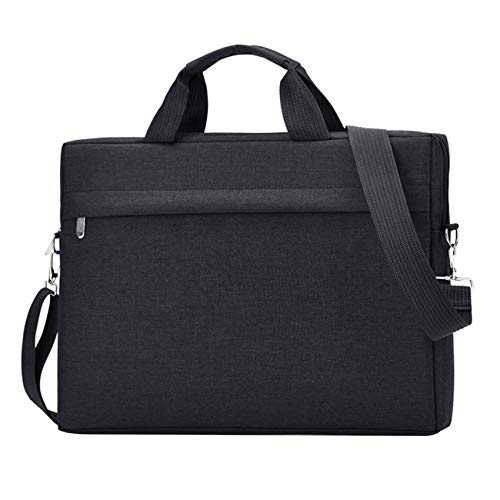 Wivarra Laptop Shoulder Bag Compatible with Pro/Air, 15 Inch Notebook Computer (Black)