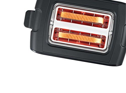 Bosch tat6a113Compact Grille-Pain Comfort Line, pain automatique ZENT rierung, fonction décongélation, 1090W Noir
