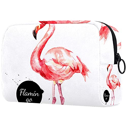 Bolsa de cosméticos de viaje grande para mujer – Neceser de viaje y maquillaje cosmético bolsa con muchos bolsillos robots 18,5 x 7,5 x 13 cm