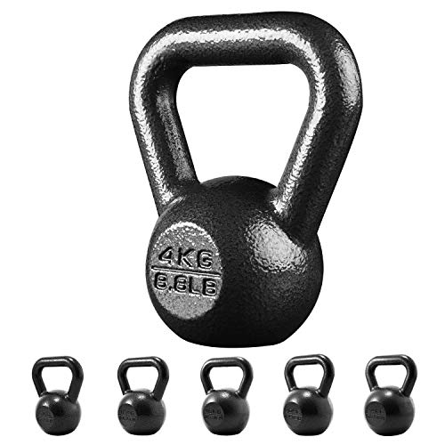 PROIRON Kettlebell ghisa Peso 4kg per Palestra Domestica Esercizi Fitness addestramento, potenziamento Muscolare (4kg)