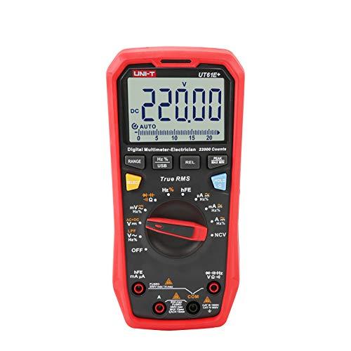 UNI-T UT61E+ 1000V 20A Digitale Multimetro 22000 Conti Schermo NCV hFE Gamma Automatica Vero RMS AC/DC Voltaggio attuale Resistenza Capacità Tester