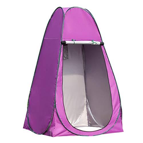 SunniMix Carpa de Ducha de Privacidad- Up Cambio de Carpa Campamento Ducha Aseo Carpa Refugio portátil habitación - 1,2 Metros púrpura