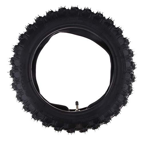 Unbekannt Kit de pneus et chambre à air en caoutchouc pour CRF50 XR50 PW50 AOD Noir 2,50-10