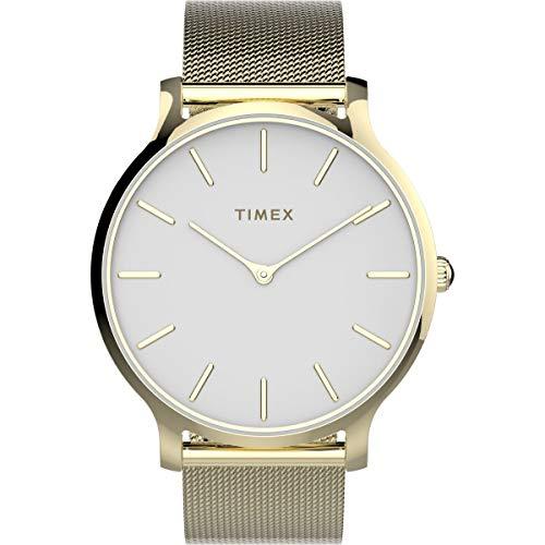 Timex 腕時計「Transcend」 メッシュゴールド。