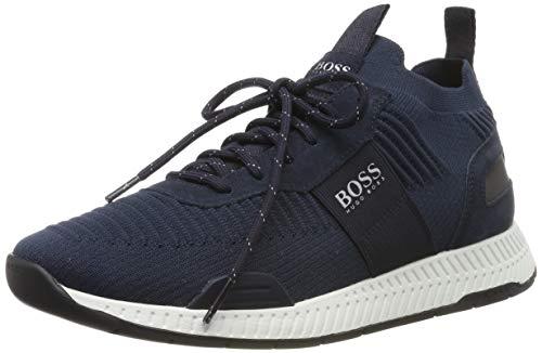 BOSS Titanium_Runn_knst, Sneakers Basses Homme, Bleu (Navy 401), 42 EU