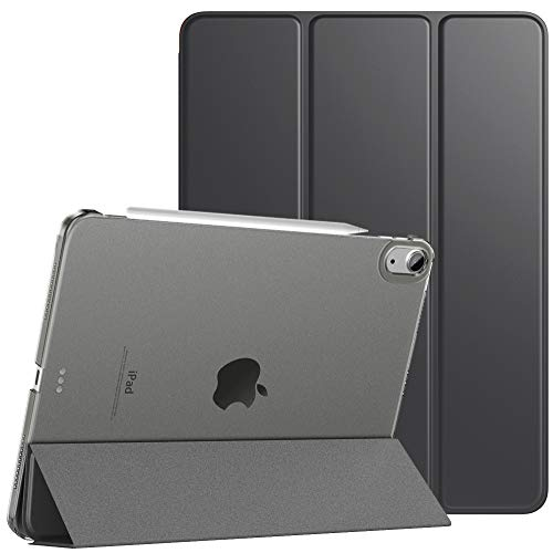 TiMOVO Case for New iPad Air 4th Generation, iPad Air 4 Case (10.9-inch, 2020), [Support 2nd Gen Apple Pencil Charging] Slim Stand Protective Cover Shell with Auto Wake/Sleep - Space Gray