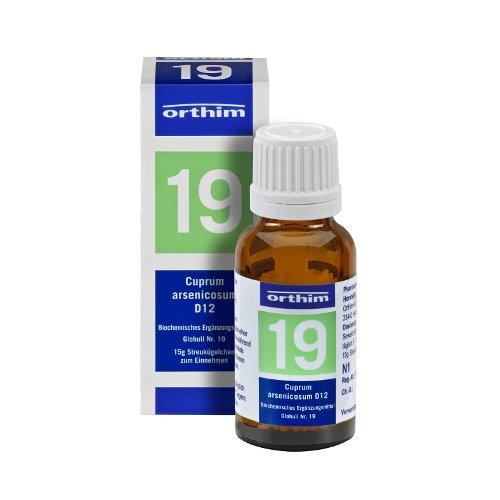 Schuessler Globuli Nr. 19 - Cuprum arsenicosum D12 - gluten- und laktosefrei