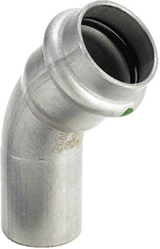 Viega 2326.1 Sanpress Inox Bogen 45° I-A, mit SC-Contur, 15 mm