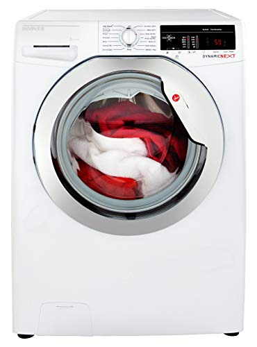 Hoover DXOA 49C3 Freestanding Washing Machine, NFC Connected, 9Kg Load, 1400rpm spin, White