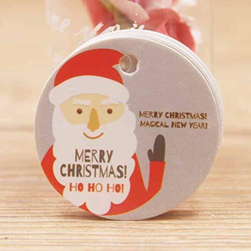 XINGSd Homely 100 stks/set Leuke Cirkel Vorm Kraft Kerstmis Papier Gift Hang Tag Voor Kerstmis Favoren/Baby Speelgoed Display Pakket/Label Tag