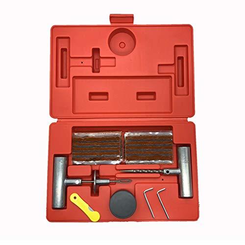 RK-HYTQWR Kit Universal de reparación de neumáticos para Reparar pinchazos y Tapones Planos Paquete económico de 37 Piezas, Extractor de válvulas de neumáticos