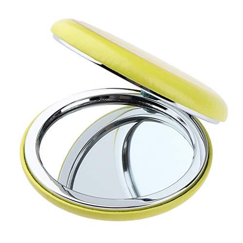 Sharplace Miroir De Poche Vanité Mignon Miroir de Sac a Main de Voyage Beau Maquillage - Jaune - Citron