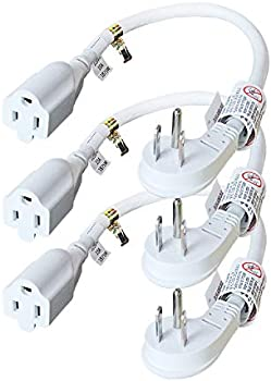 3-Pack Firmerst 1875W 15A Flat Plug 1Ft Extension Cord