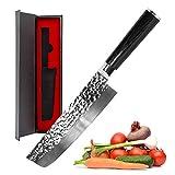 Nakiri Knife - imarku Nakiri Chef Knife 7 inch High Carbon German Stainless Steel Nakiri Vegetable...