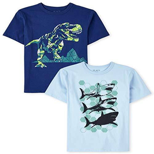 The Children's Place Camisas para niño, Paquete de 2, Multi clr, 5-6 Años