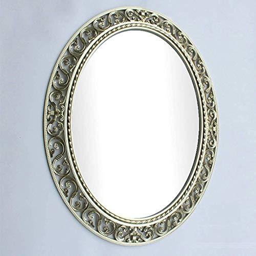 Wall-Mounted Mirrors Specchio da Parete Ovale per Trucco da Trucco per Bagno Specchio da Parete Rotondo con Motivo Vuoto, Decorazione Relaxdays ABS 60 * 73CM