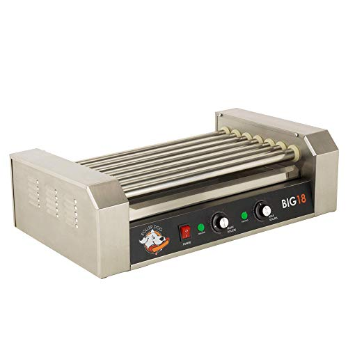 of bella hot dog cookers RollerDog Big 18 Stainless Steel Hotdog Roller with Drip Tray (RK4749K)