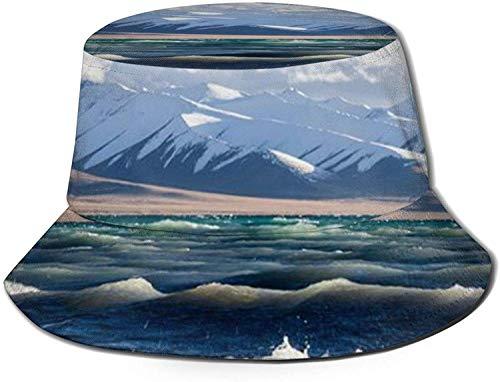 DUTRIX Azul agua de mar blanco spray nieve montaña cielo nube impresión...