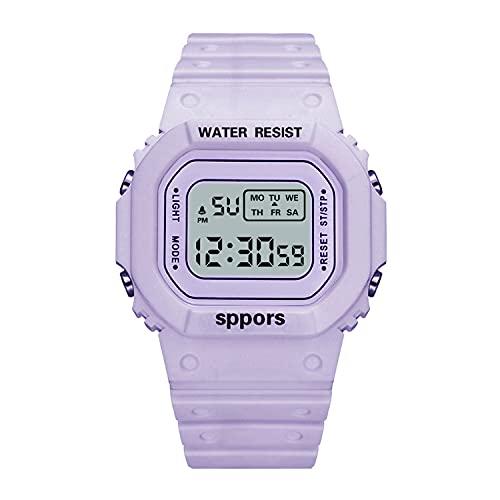Big Cargo Net Unicornio Deportes Electrónico Reloj Partido Hombre Y Mujer Cuadrado Púrpura