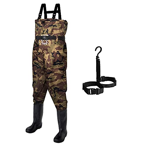Fly Fishing Hero Chest Waders for Men with Boots Hunting Waders...