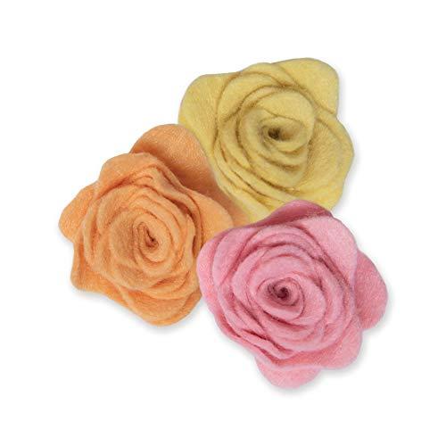 Sizzix Bigz 665094 Fustella 3 D Rose #2 di Jen Long Scrapbooking, Multicolor, Taglia unica