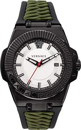 Versace Herren Armbanduhr Chain REACER D/WHT S/BLK-Green IPGUN - GRECA&Text. VEDY004 19