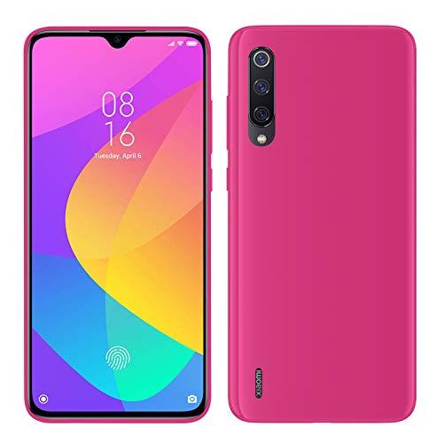 TBOC Funda de Gel TPU Rosa para Xiaomi Mi 9 Lite [6.39 Pulgadas] Carcasa de Silicona Ultrafina y Flexible para Teléfono Móvil [No es Compatible con Xiaomi Mi 9]