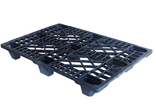 Leichtpalette 1200x800 mm aus HDPE-RE Kunststoff anthrazit