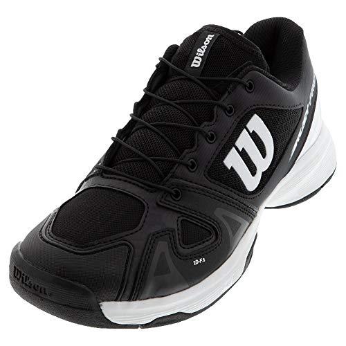Wilson Rush PRO JR QL Tennis Shoes, Black/White/Black, 5 US Unisex Big Kid