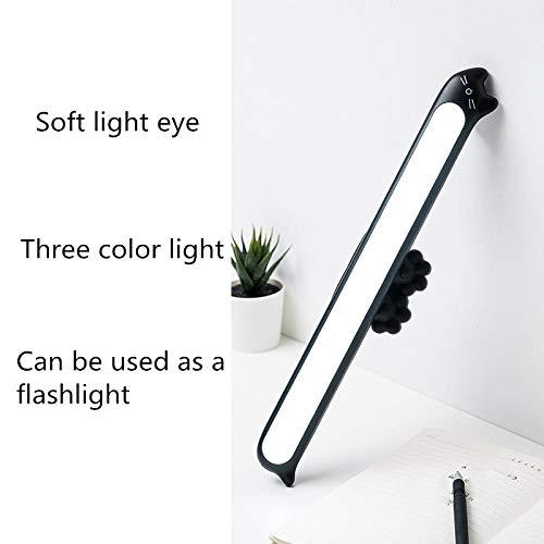 Led-tafellamp, klein, USB, oplaadbare accu, bescherming voor ogen, studenten, slaapkamer, buizen, magneet, adsorptie, wandlamp