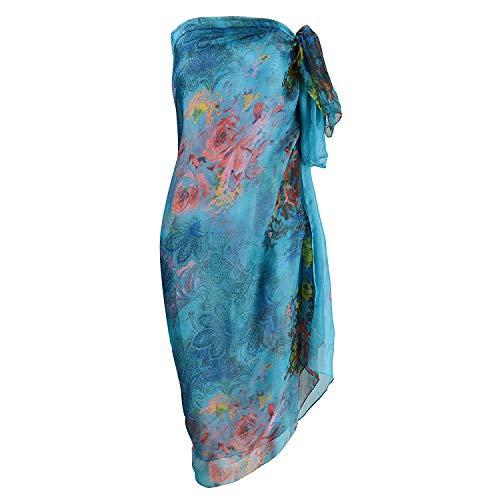 UK_Stone Damen Übergroesse Modisch Sarong Pareo Strandtuch Wickeltuch Bikini Sonnenschutz Decke Cover-up (7#)