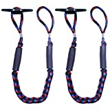 Botepon 2Pcs Boat Dock Line, Mooring Sailing Rope, Bungee Cords for Boats, Boating Gifts for Men, Boat Anchor Accessories, Perfect for Jet Ski, SeaDoo, Yamaha WaveRunner, Kayak, Pontoon (4 Feet)