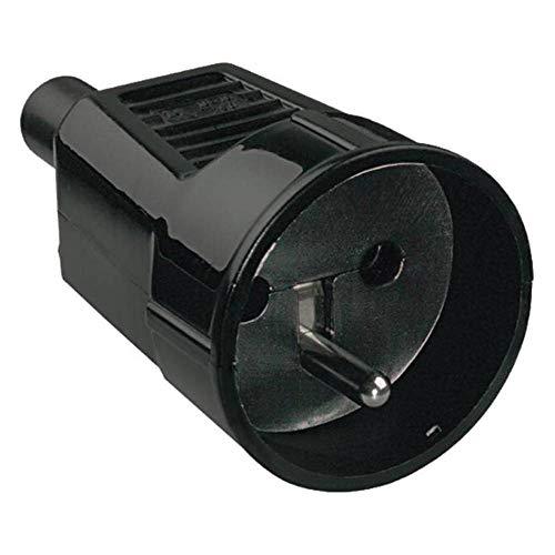 Bachmann 912.173 veiligheidscontactkoppeling met aardingsstift in zwart