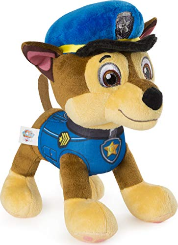 "Paw Patrol – 8"" Chase Plush Toy, Standing Plush with Stitched Detailing, for Ages 3 & Up"